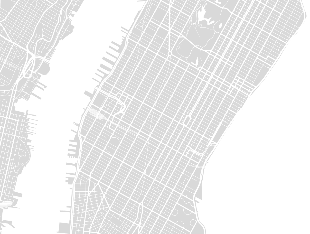A map of New York city