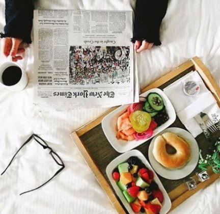 Breakfast in bed at The Benjamin