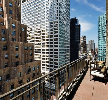 A view of New York from the balcony suite of The Benjamin Hotel