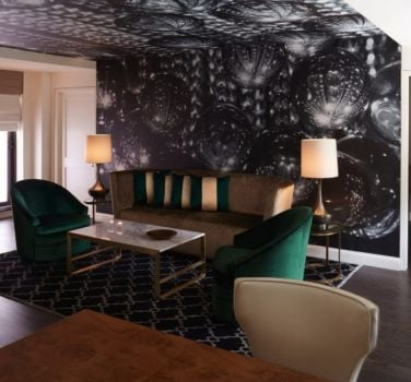 A suite living room at The Benjamin