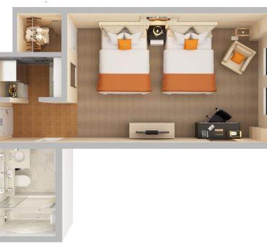 Studio Double Floorplan   The Benjamin Hotel NYC