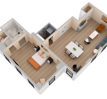 Terrace Suite Floorplan | The Benjamin Hotel NYC
