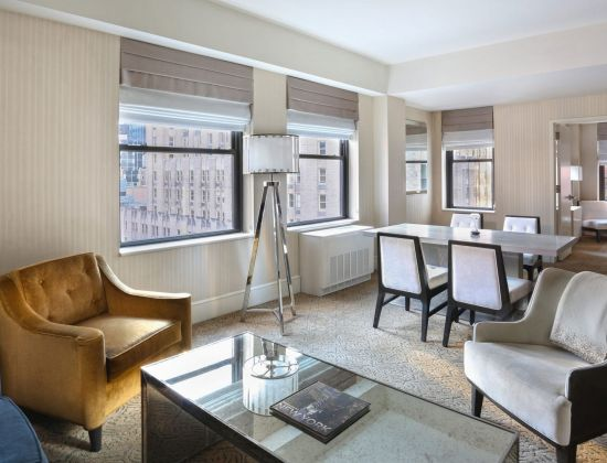 A terrace suite from The Benjamin Hotel in New York