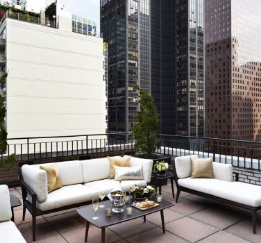 A view of NYC from the terrace of The Benjamin Hotel