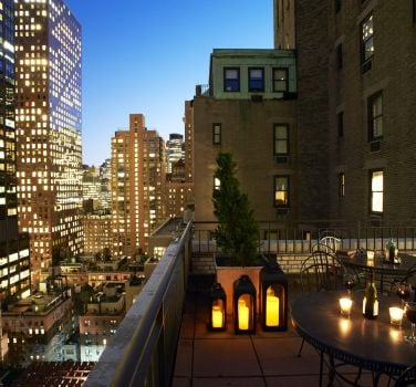 The Benjamin Hotel VIP terrace at night