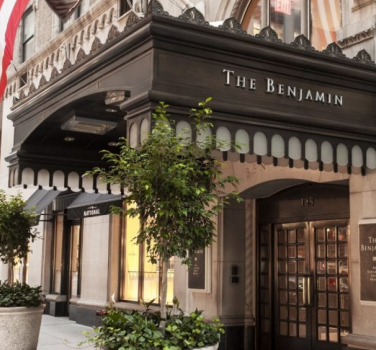 The Entrance of The Benjamin Hotel in New York