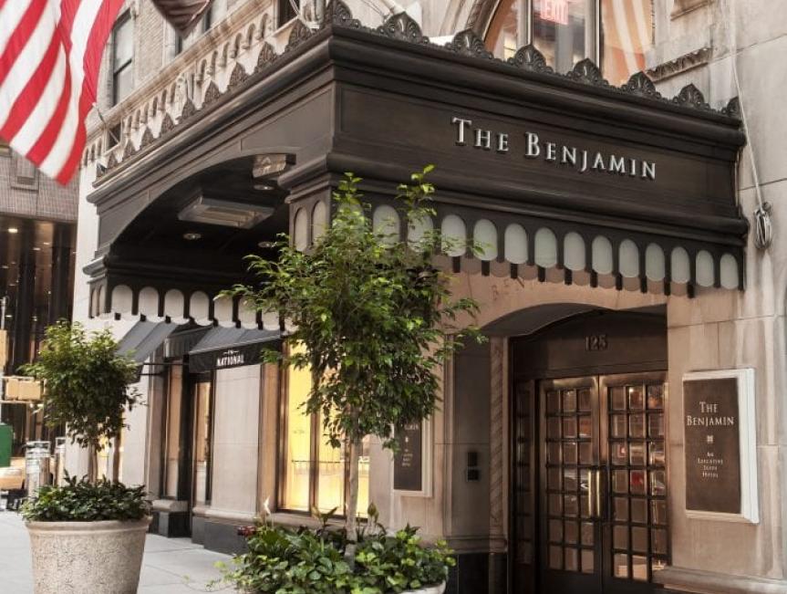 The Entrance of The Benjamin Hotel in New York