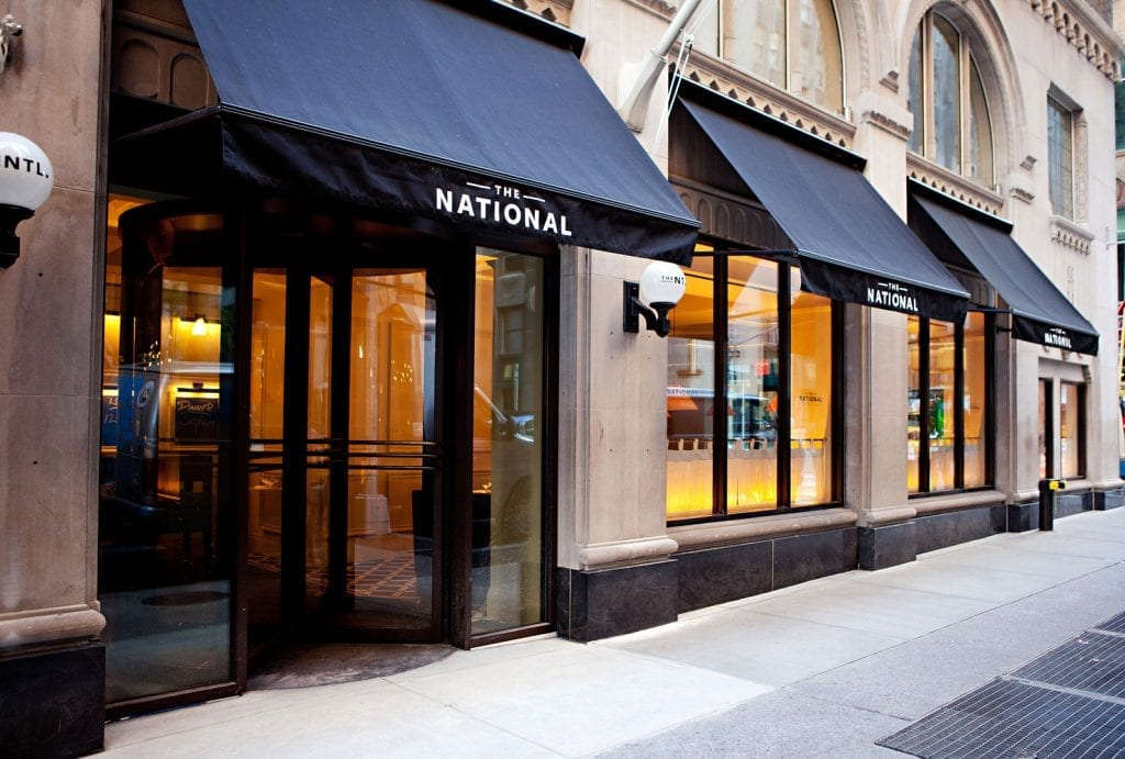 The National Restaurant Bar and Dining Rooms Entrance in NYC