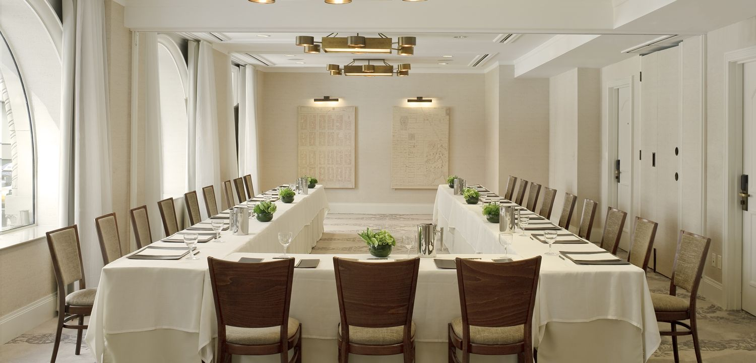 A wedding hall at The Benjamin Hotel in NYC
