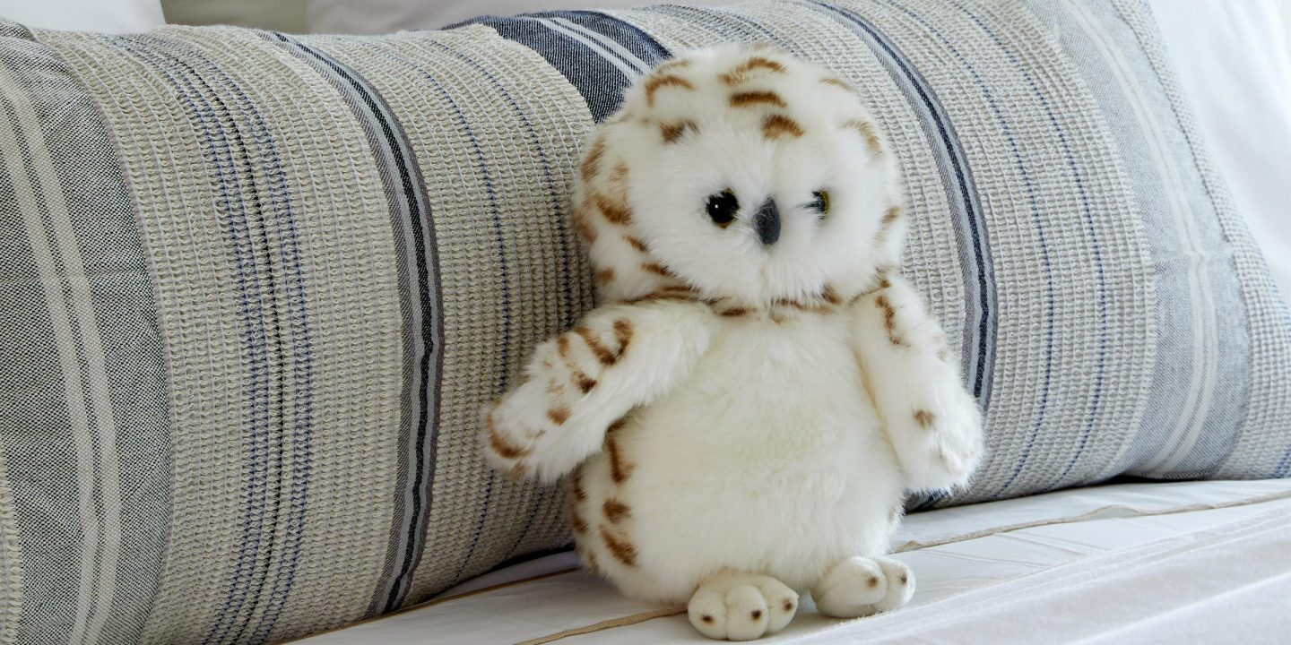 A cute snowy owl plush from The Benjamin Hotel NYC