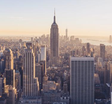 The Manhattan NYC skyline