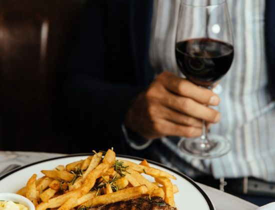 Steak and frites from The National Bar & Dining Room at The Benjamin NYC