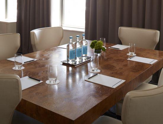 A meeting room at The Benjamin Hotel