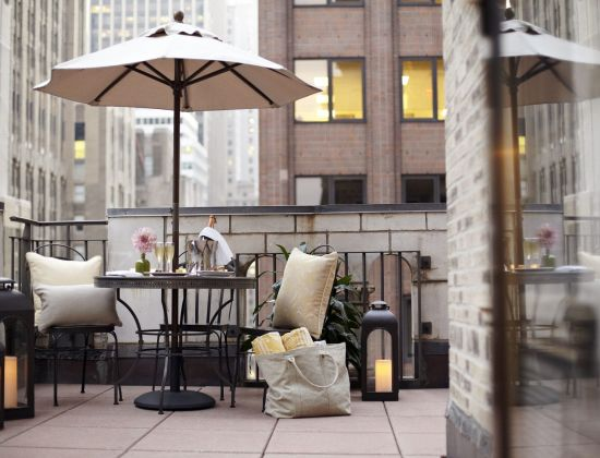 A Terrace Suite at the Benjamin Hotel NYC