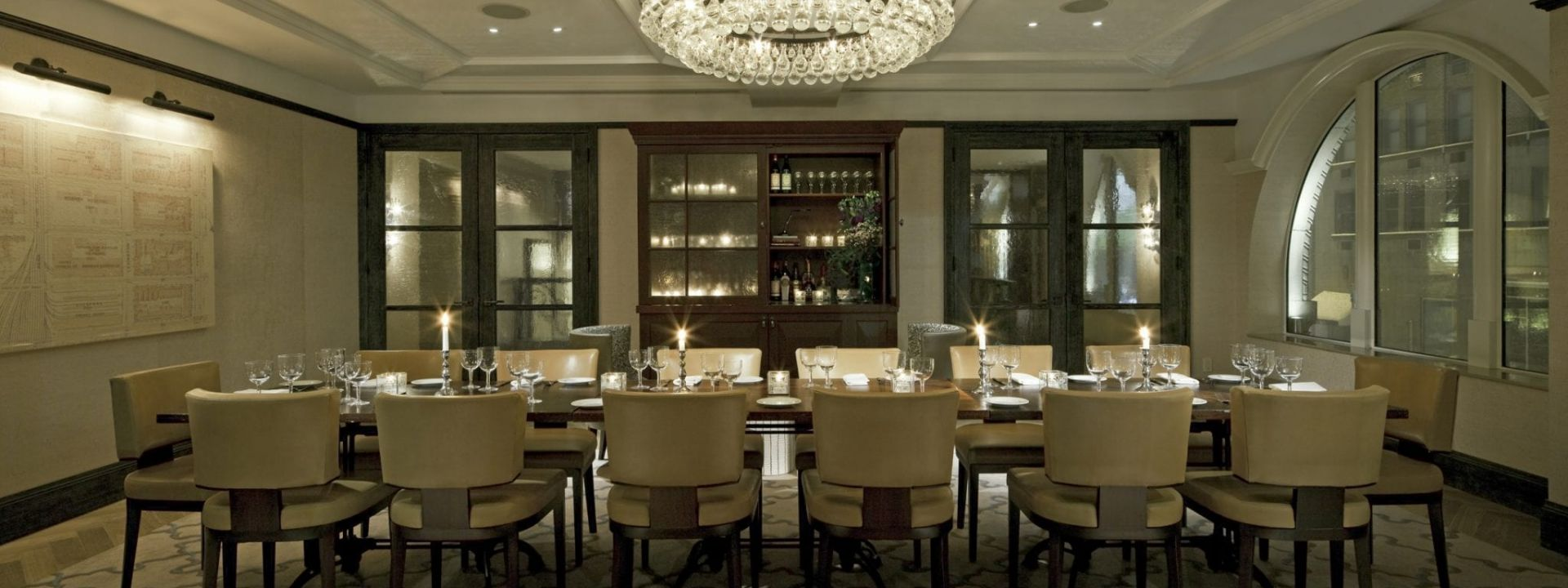 The Corner Private Dining Room at The Benjamin Hotel NYC