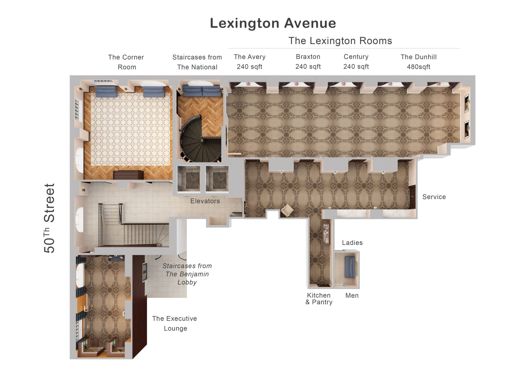Private Dining Floor Plan | The National Bar & Dining Rooms NYC