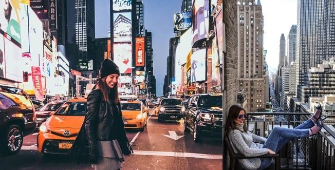 Annika Bayer exploring downtown NYC