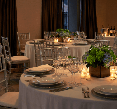A wedding reception at The Benjamin Hotel in NYC
