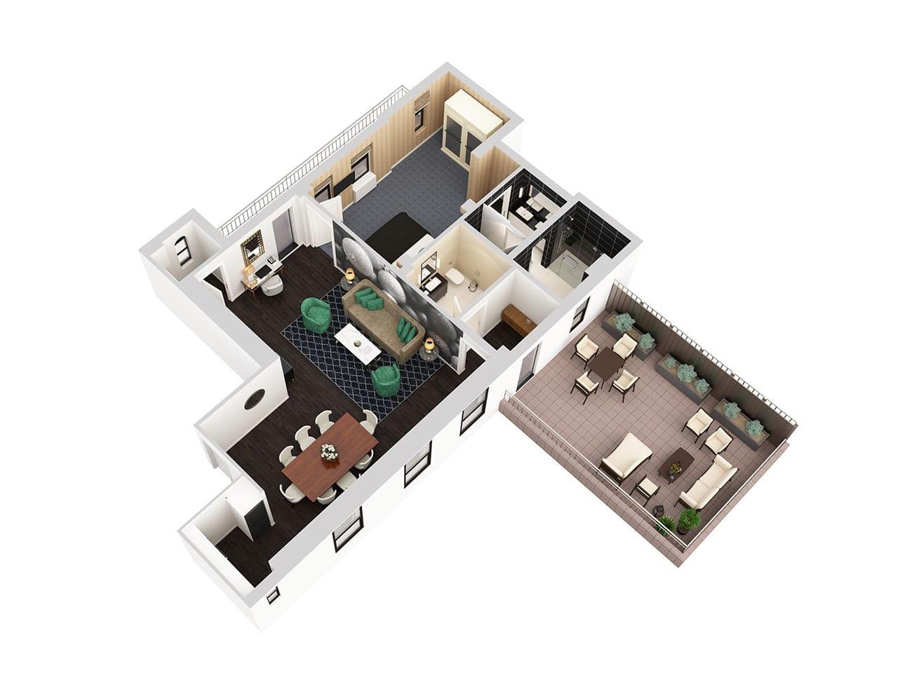 Suite Floor Plan | The Benjamin Hotel NYC