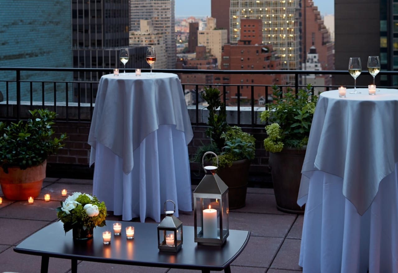 The suite patios at The Benjamin Hotel in NYC