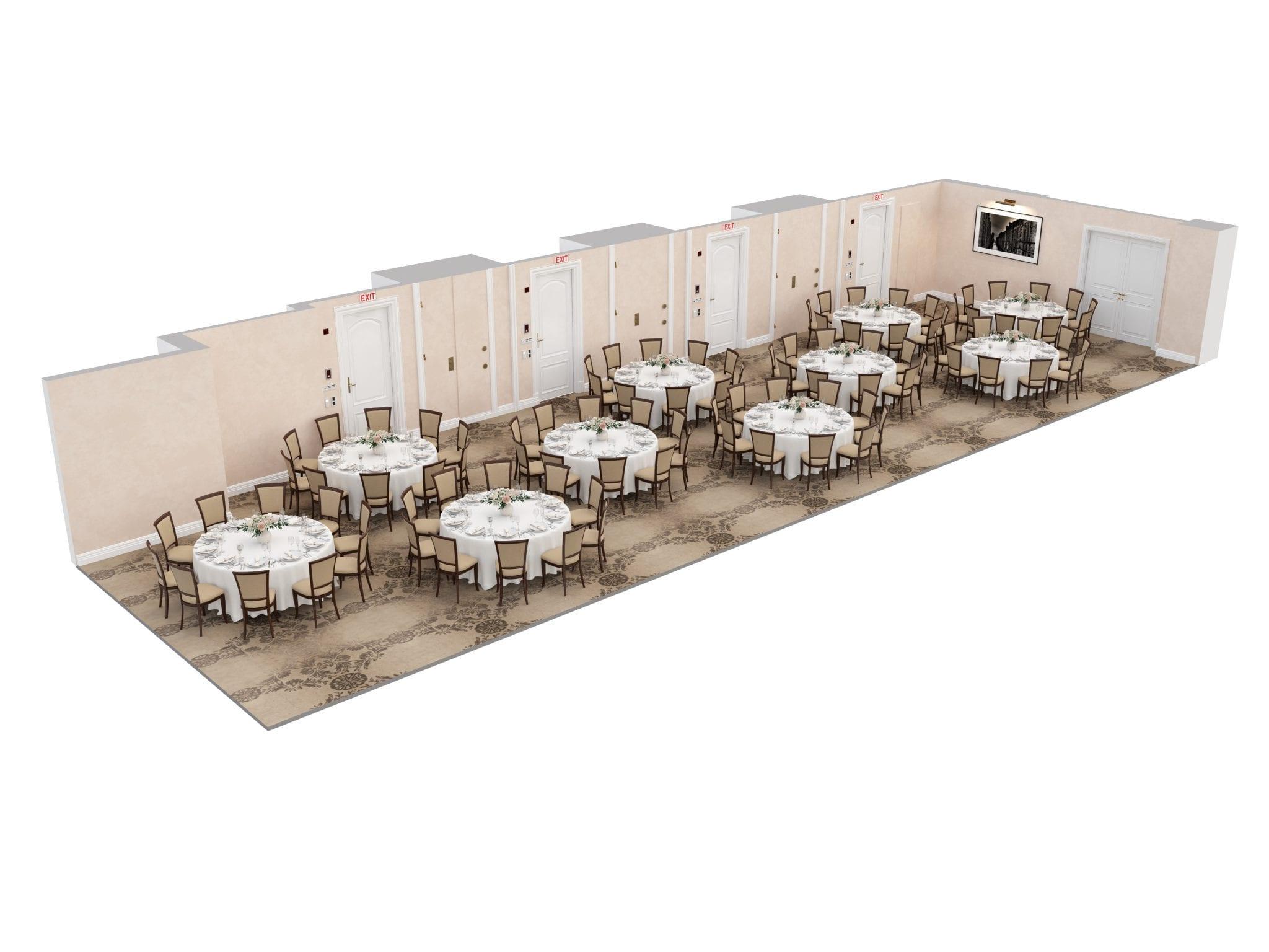 The Lexington Room banquet tables